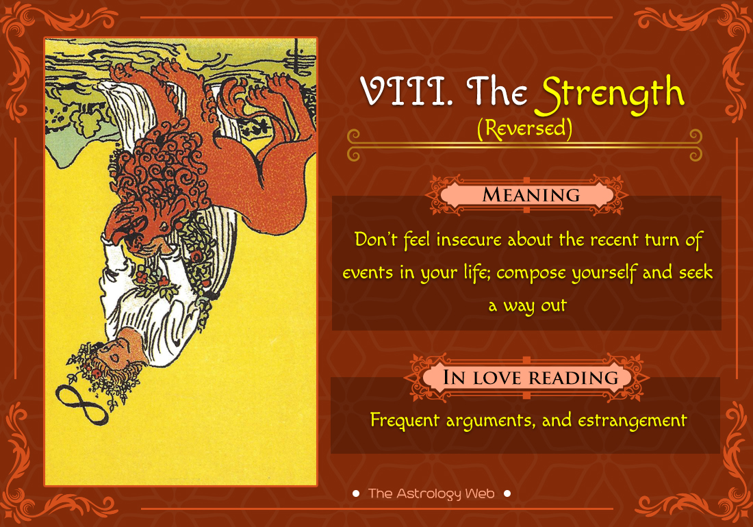 The Strength Tarot: Meaning In Upright, Reversed, Love