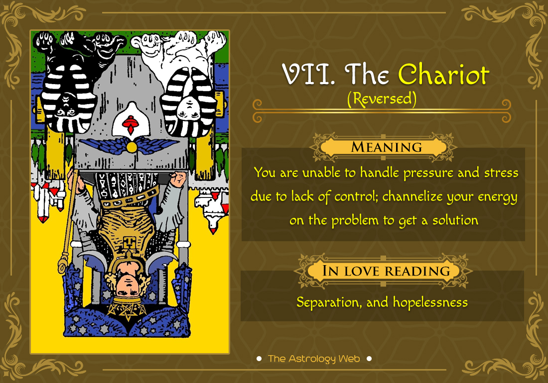 The Chariot Tarot: Meaning In Upright, Reversed, Love
