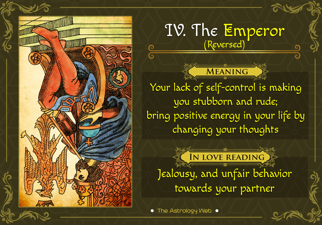 The Emperor Tarot Card Reversed