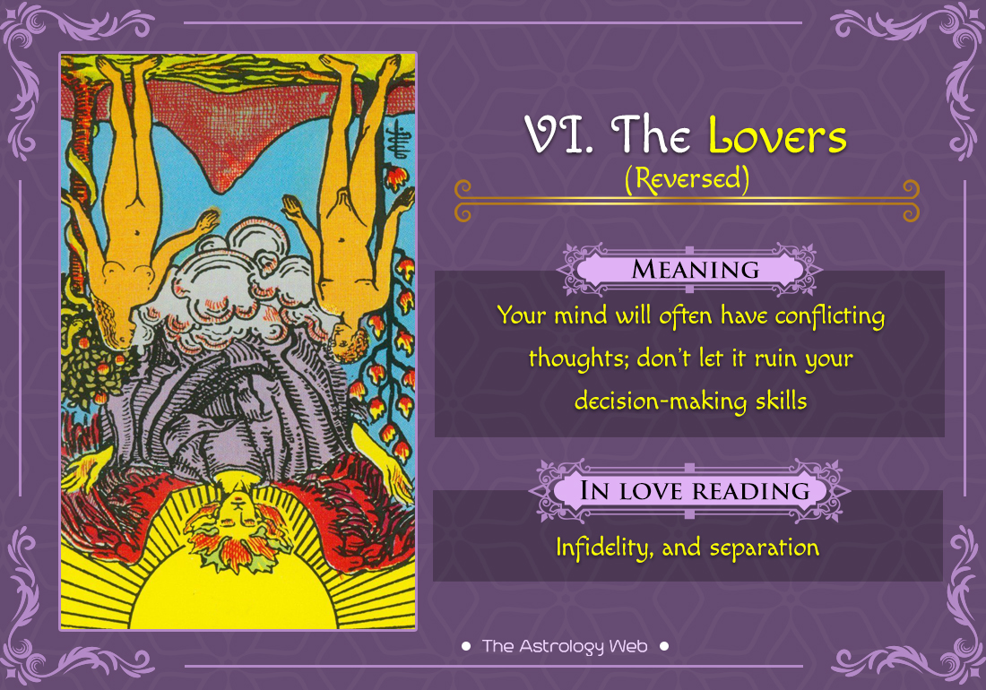 The Lovers Tarot Card Reversed