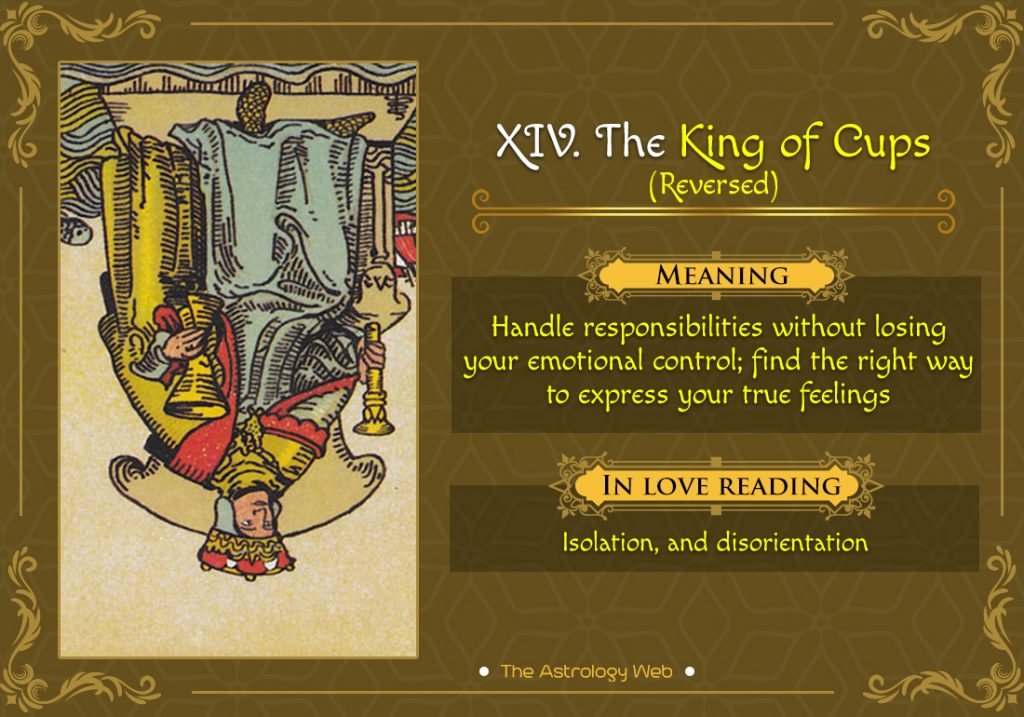 The King of Cups Reversed