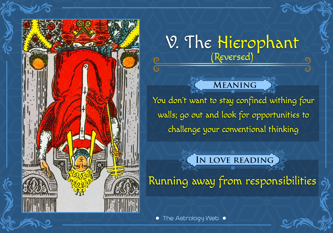 The Hierophant Tarot Card Reversed