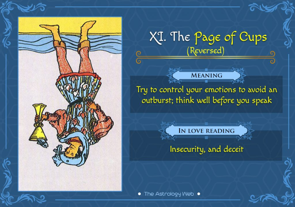 The Page of Cups Reversed