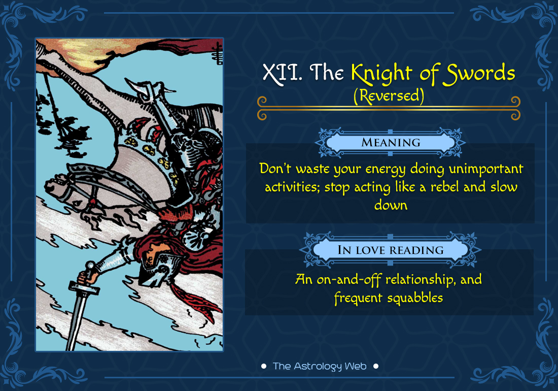 The Knight of Swords Reversed