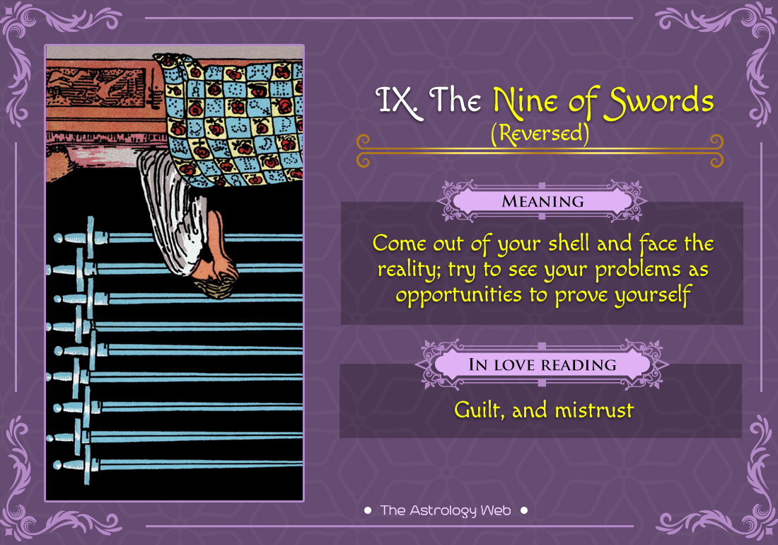 The Nine of Swords Reversed
