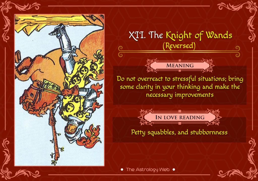 The Knight of Wands Reversed