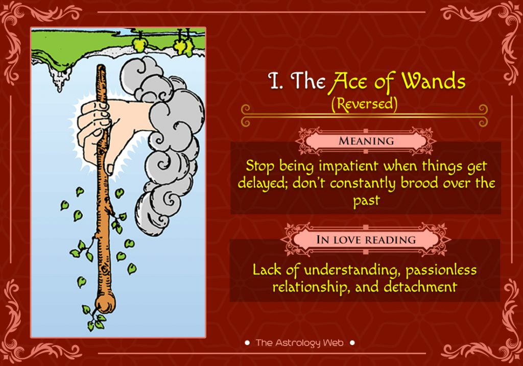 The Ace of Wands Reversed