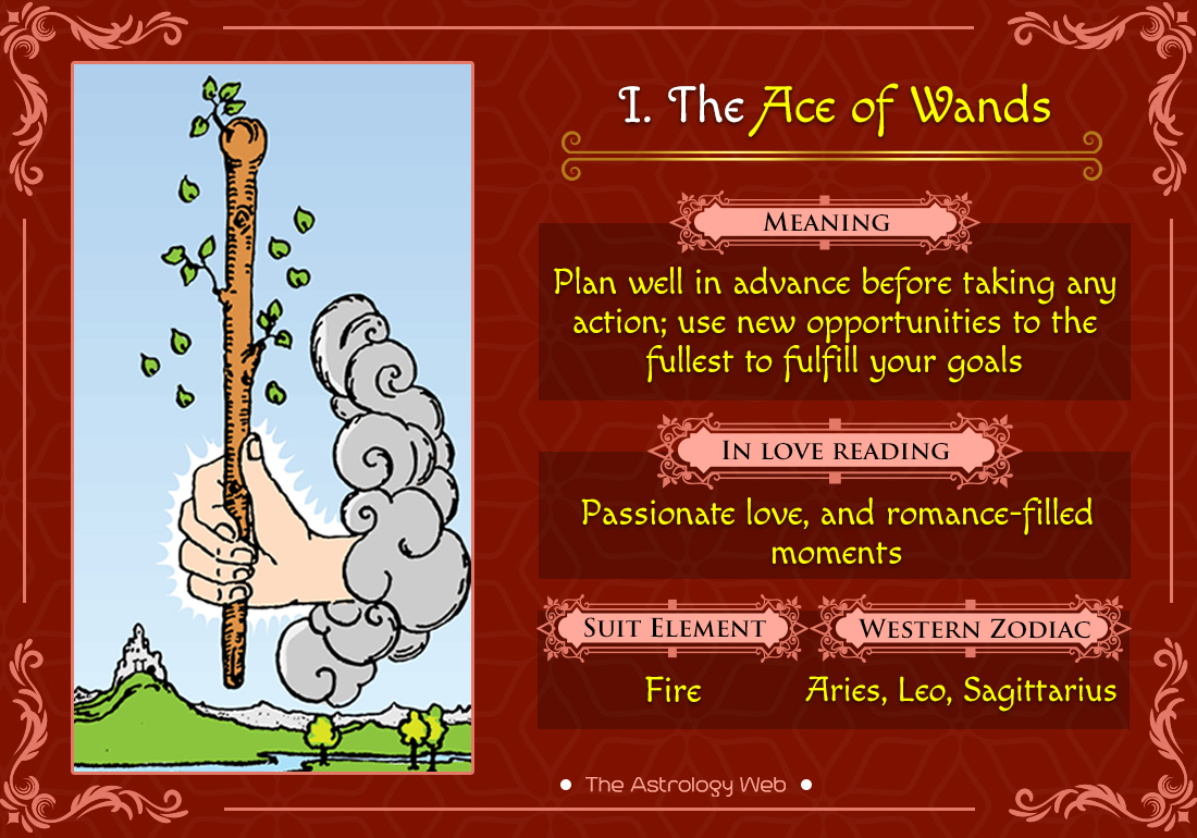The Ace of Wands Tarot | The Astrology Web