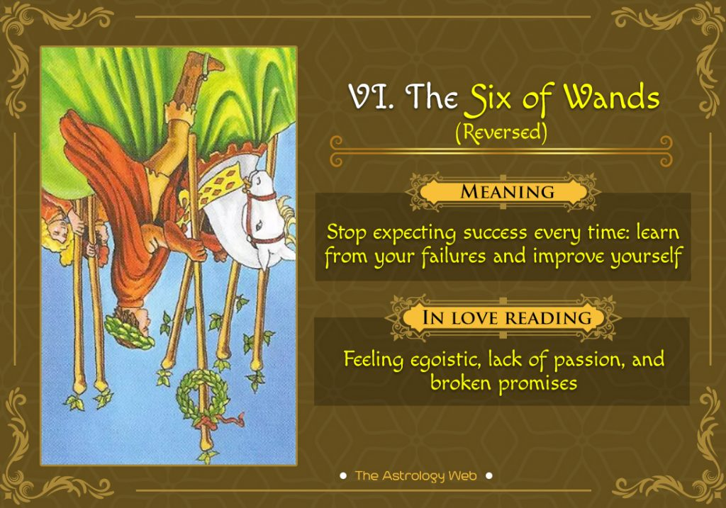 The Six of Wands Reversed