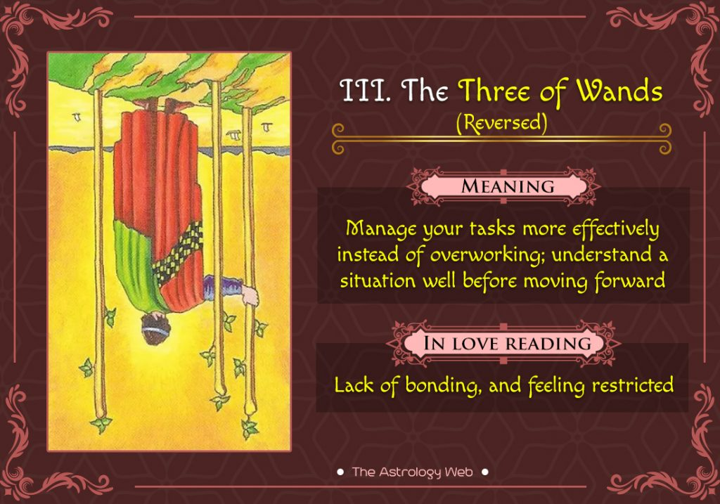 The Three of Wands Reversed