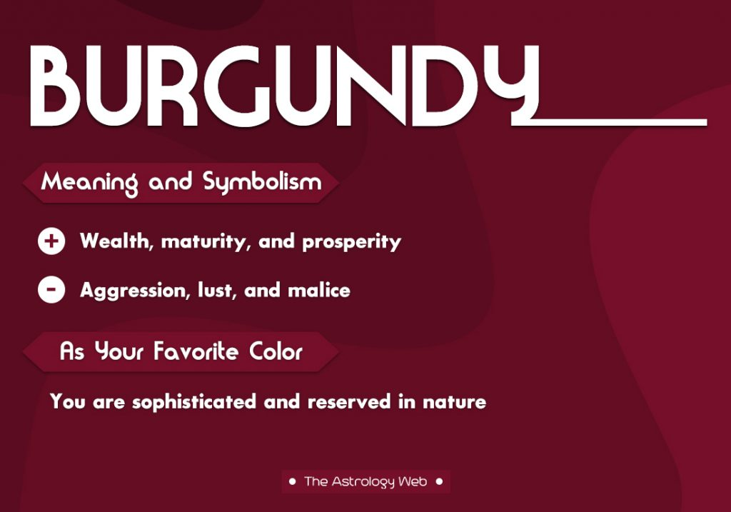 Burgundy Meaning Symbolism Favorite Color