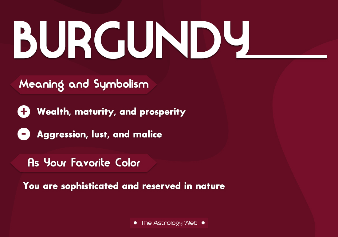 Burgundy Color Meaning and Symbolism | The Astrology Web