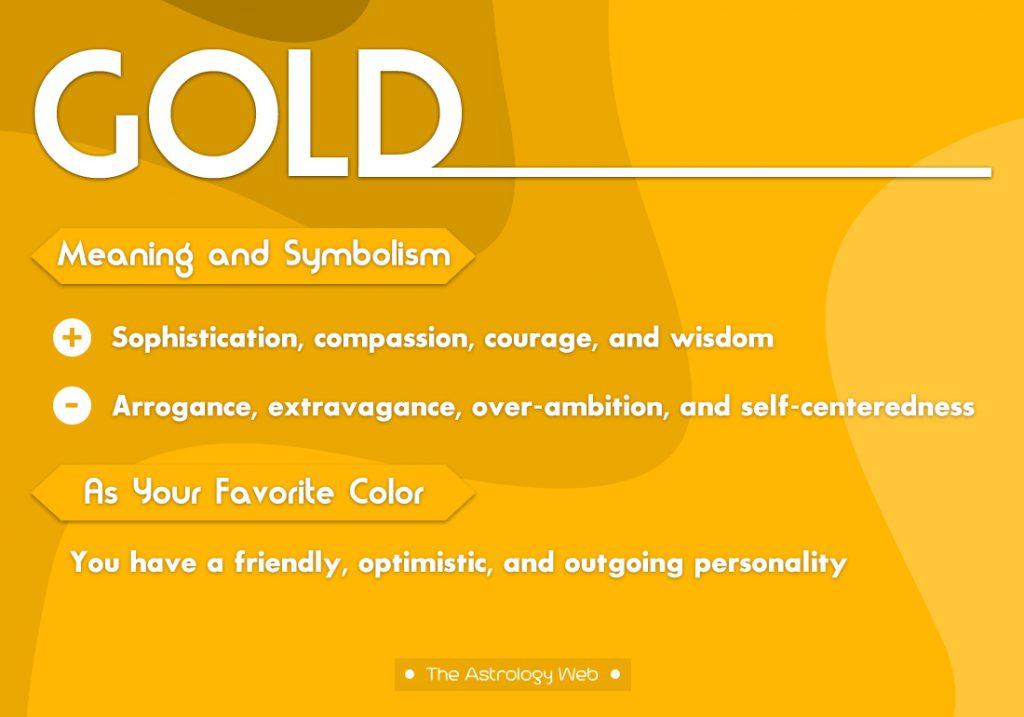 Gold Meaning Symbolism Favorite Color