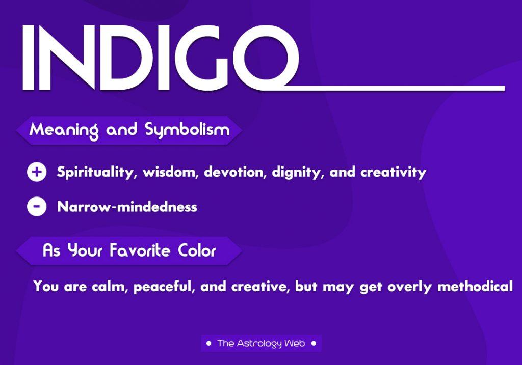 Indigo Meaning Symbolism Favorite Color