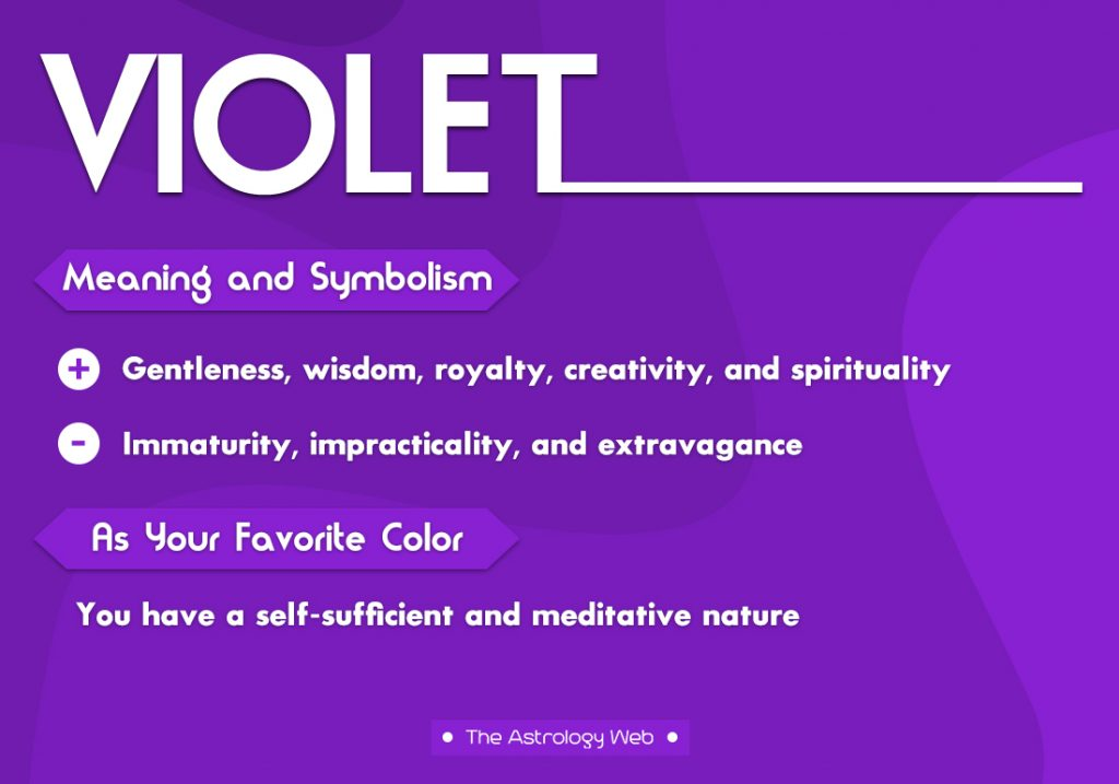 Violet Meaning Symbolism Favorite Color