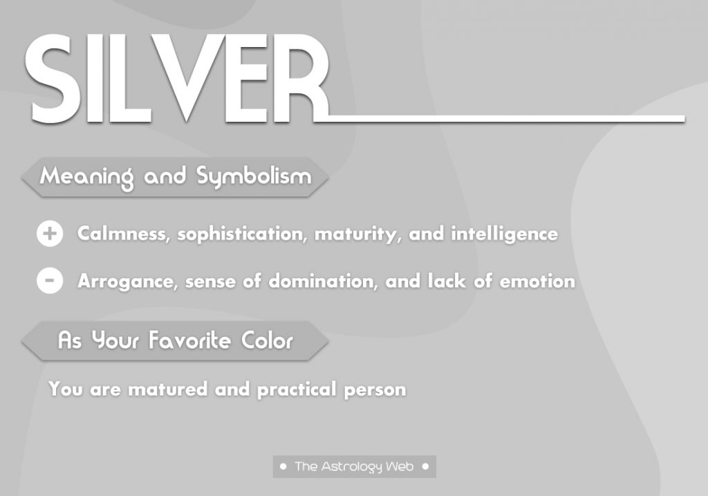 Silver Meaning Symbolism Favorite Color