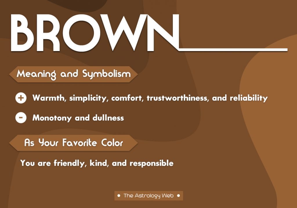Brown Meaning Symbolism Favorite Color
