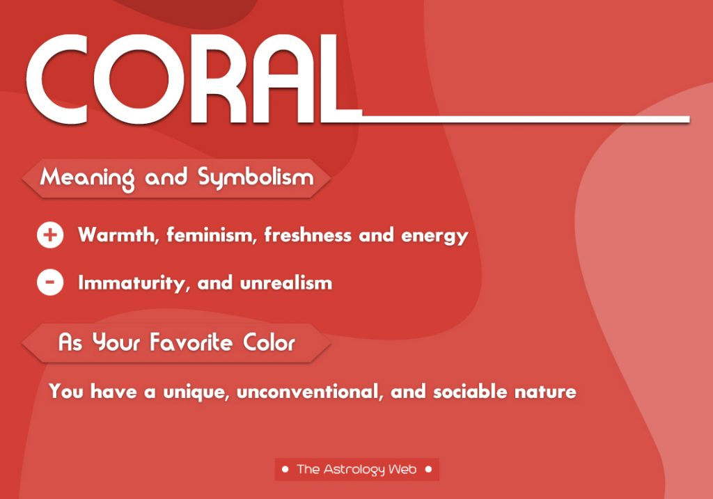 Coral Meaning Symbolism Favorite Color
