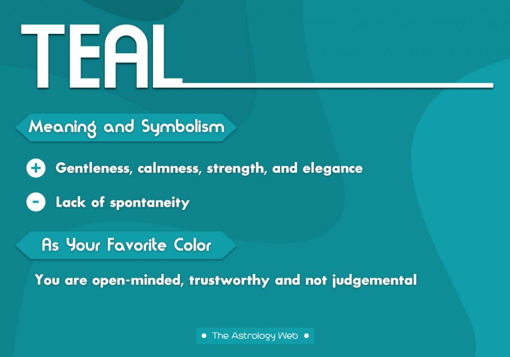 Teal Meaning Symbolism Favorite Color