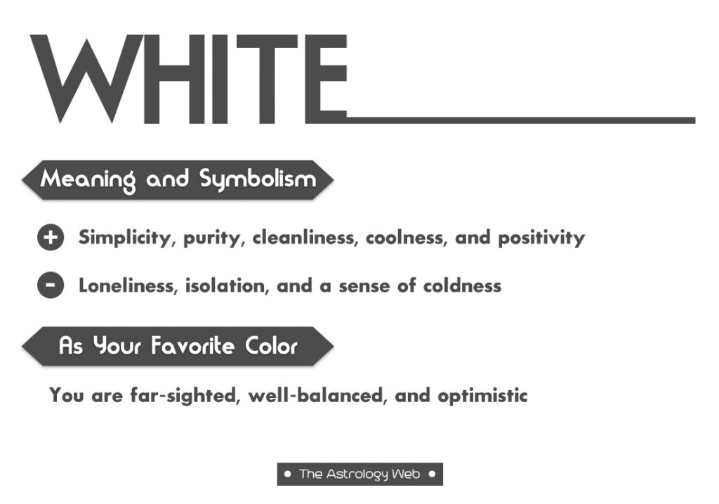 White Meaning Symbolism Favorite Color