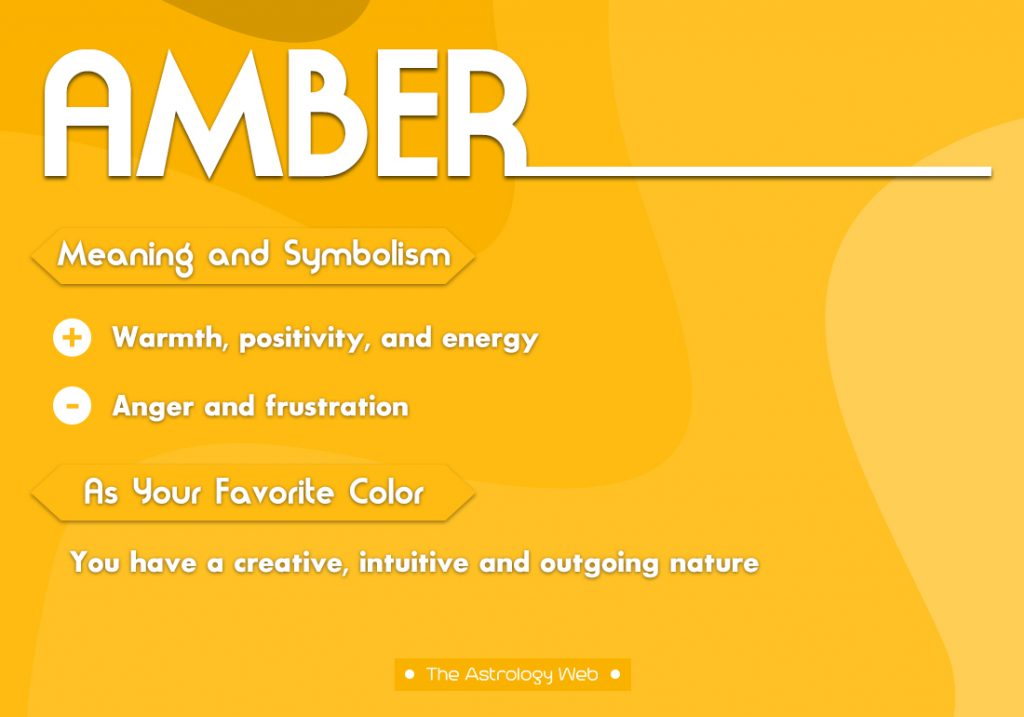 Amber Meaning Symbolism Favorite Color