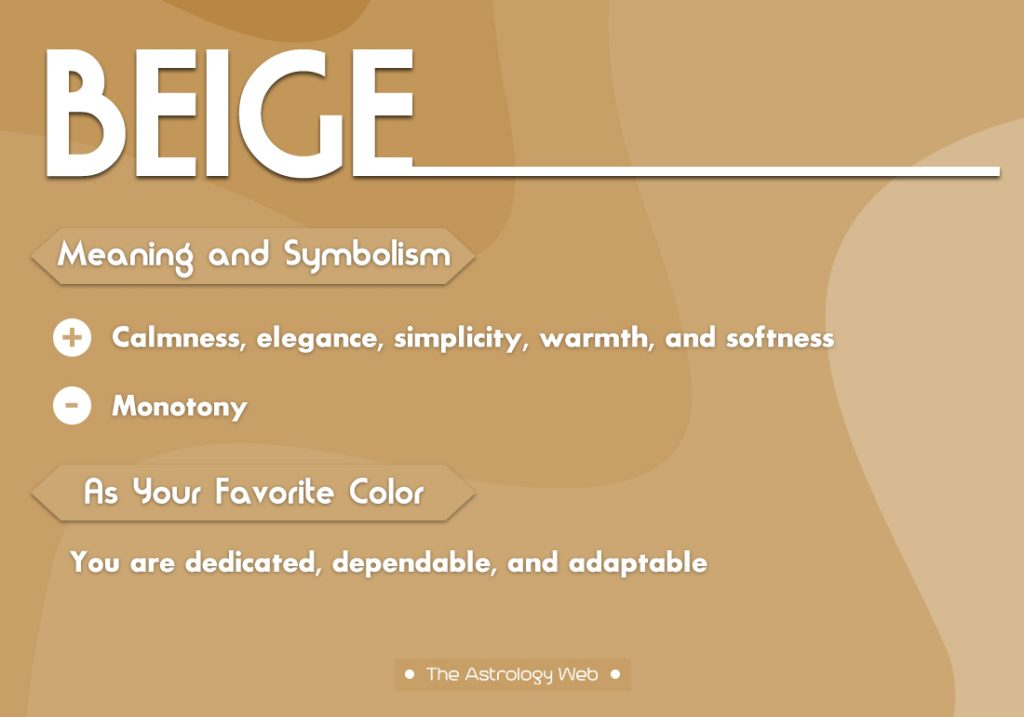 Beige Meaning Symbolism Favorite Color