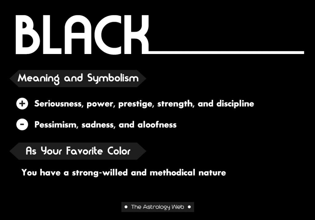 Black Meaning Symbolism Favorite Color