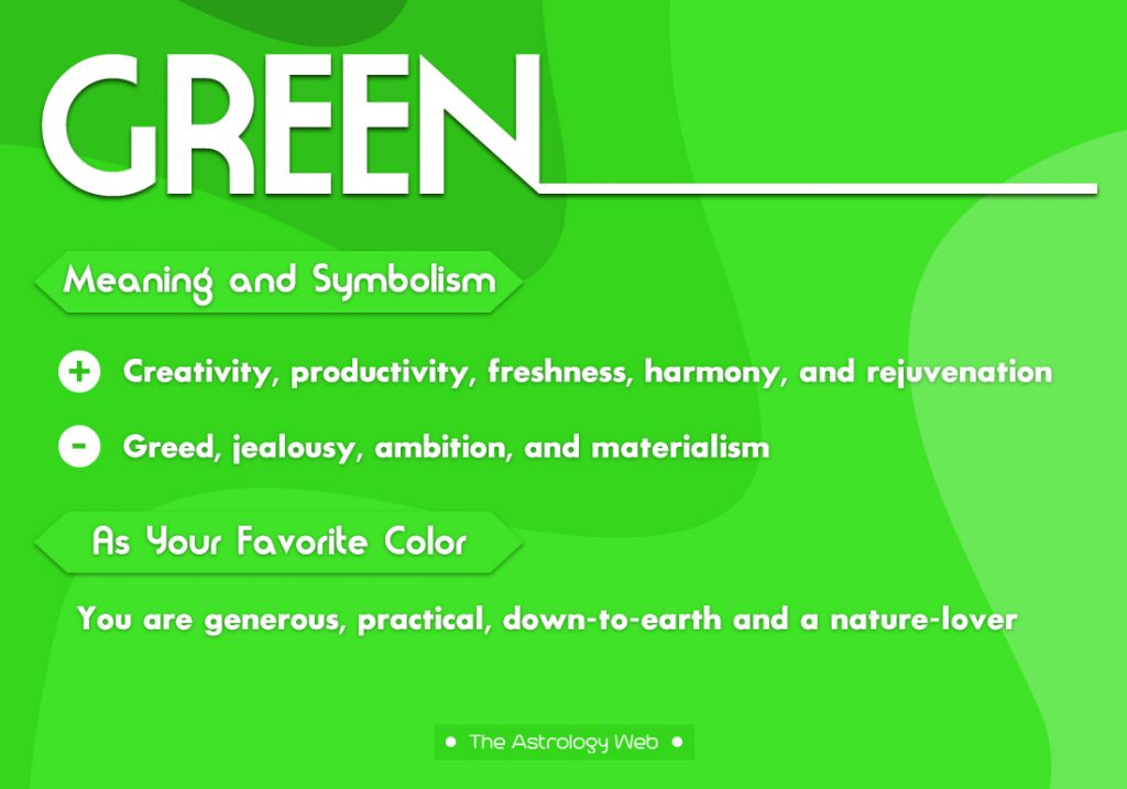 Green Meaning Symbolism Favorite Color