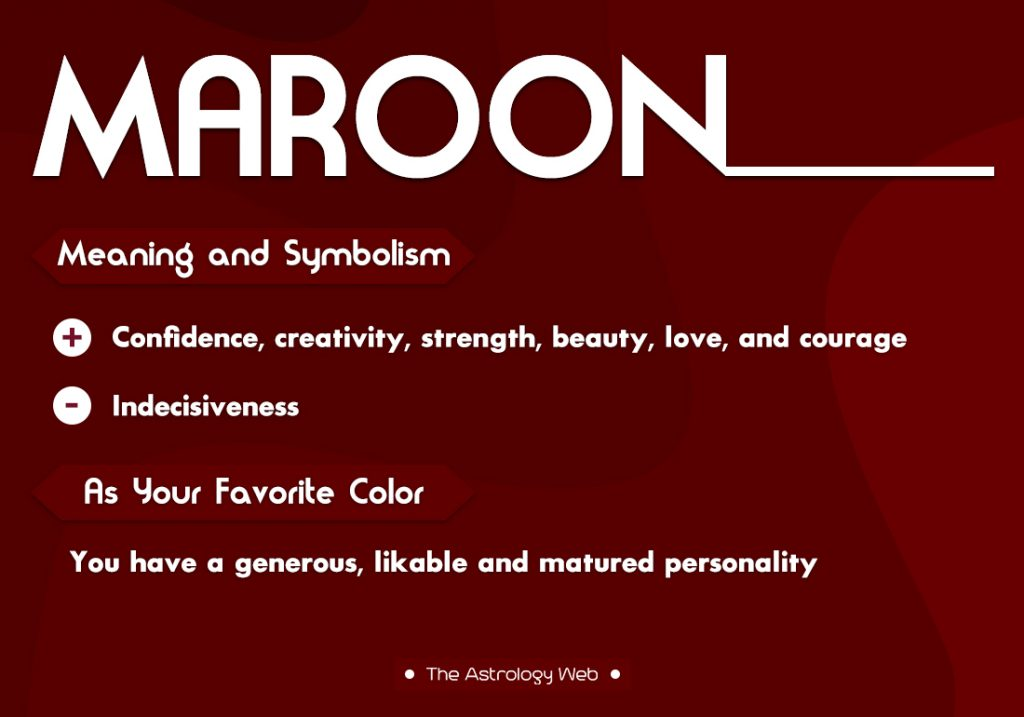 Maroon Meaning Symbolism Favorite Color