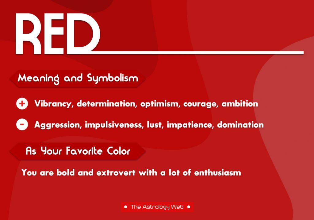 Red Meaning Symbolism Favorite Color