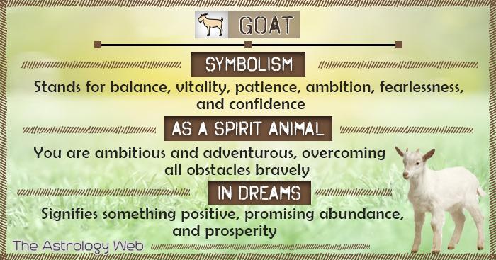Goat Symbolism Spirit Animal Dream